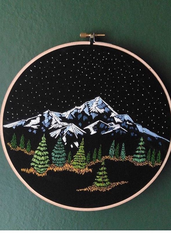 Most Recent Cost Free Needlework Mountains Concepts These Suggestions Ended Up In The Beginni In 2021 Sewing Embroidery Designs Embroidery Patterns Embroidery Hoop Art