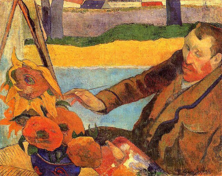 Поль Гоген «Ван Гог рисует подсолнухи»