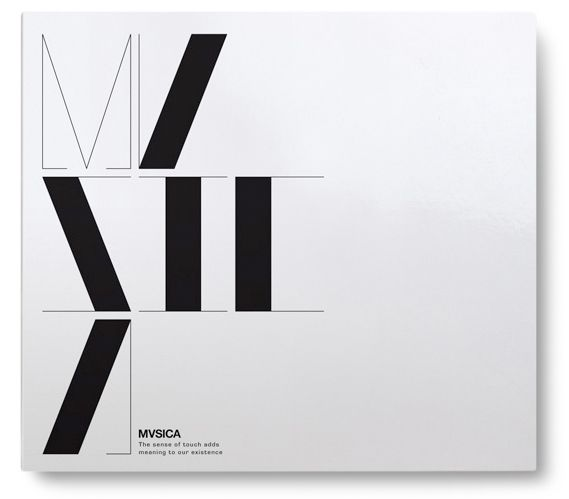 """Title typography for """"MVSICA"""" : I like how the thick vertical strokes are evocative of piano keys."""