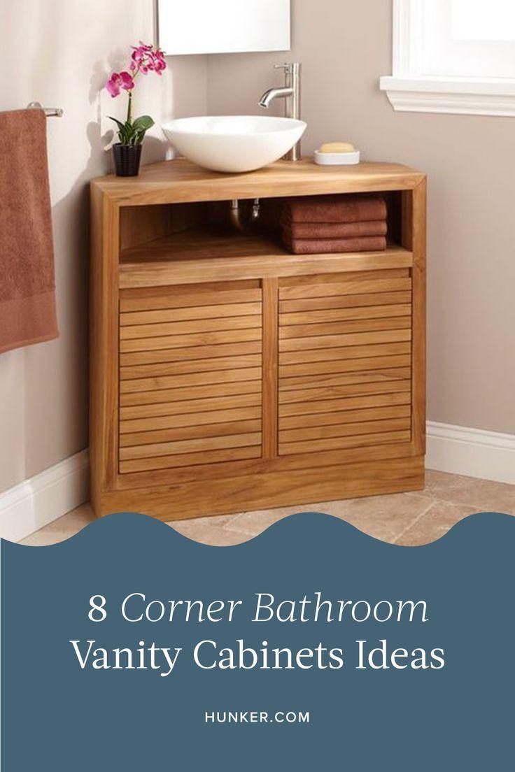 8 Corner Bathroom Vanity Cabinets That Ll Make Your Small Space A Bit More Functional Hunker Corner Bathroom Vanity Bathroom Vanity Small Bathroom Vanities [ 1104 x 736 Pixel ]