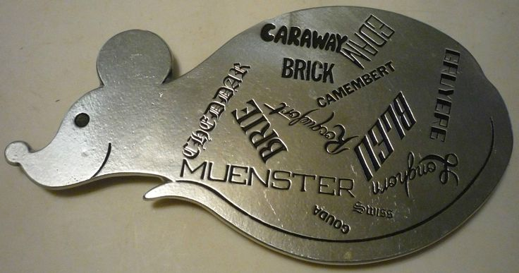 1975 Pewter Like Mouse Shaped Trivet with Cheese Names Feet 10 200 Adorable | eBay