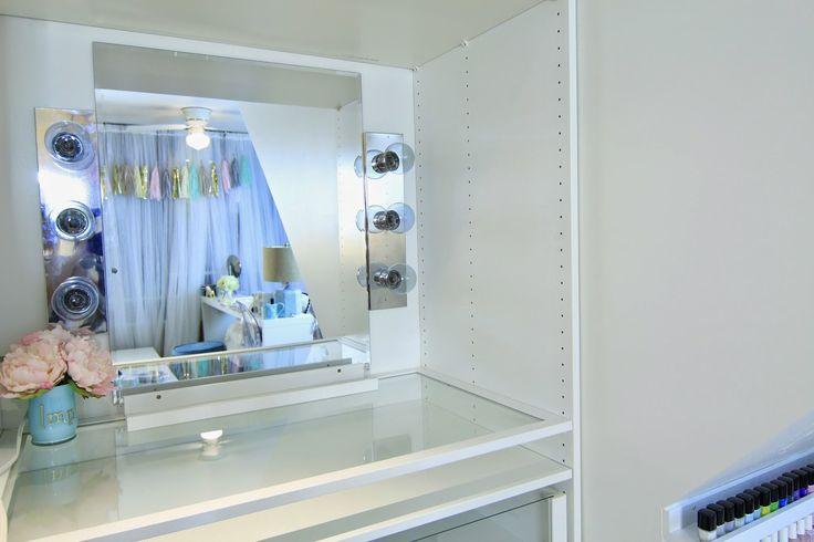 dose of lisa pullano easy diy hollywood vanity light mirror diy decor pinterest hollywood. Black Bedroom Furniture Sets. Home Design Ideas
