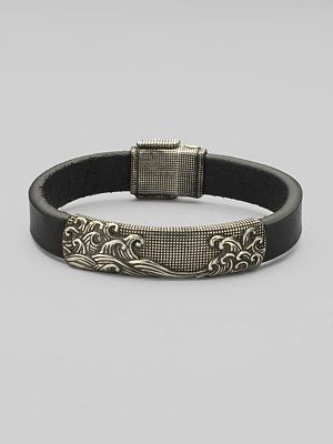 David Yurman Wave Leather Bracelet Accessories Pinterest Bracelets Jewelry And For Men