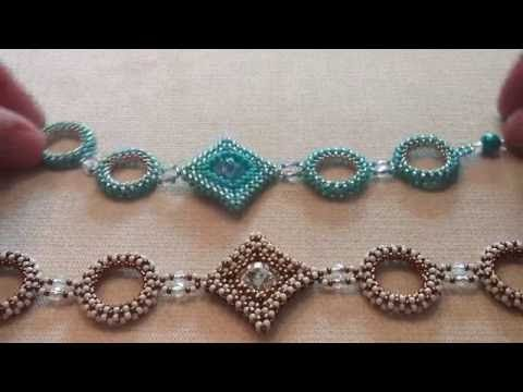 Swarovski rivoli focal bracelet tutorial