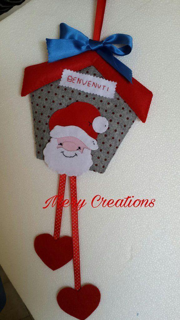 Casetta fuori porta natalizia, Babbo Natale, by Mery Creations, 22,00 € su misshobby.com