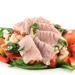 Cannellinibonen salade met gerookte tonijn