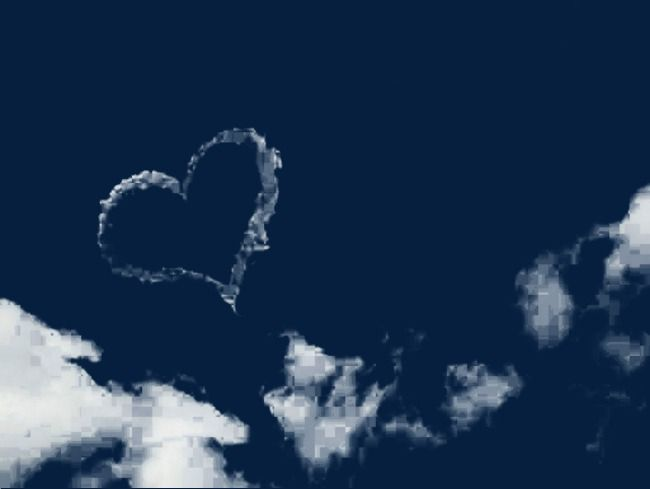 White Heart Shaped Clouds White Heart Clouds Heart Shapes