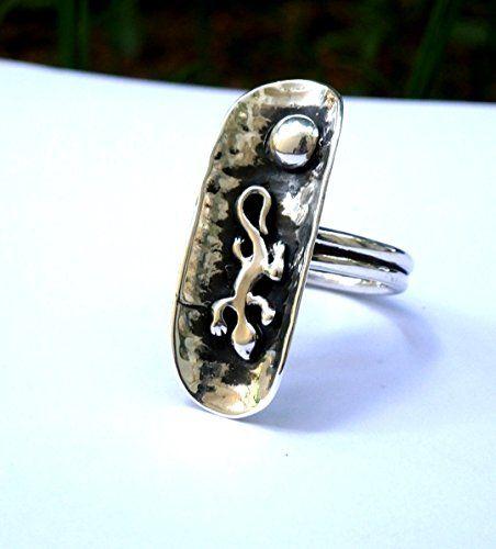 Silver domed ring, Lizard ring, salamander ring, artisan ... https://www.amazon.com/dp/B01EAO5OAM/ref=cm_sw_r_pi_dp_x_wSchybJNT7KCV