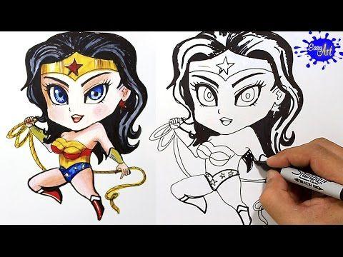 How to Draw Wonder Woman  (Batman v superman) / Como dibujar la mujer maravilla YouTube