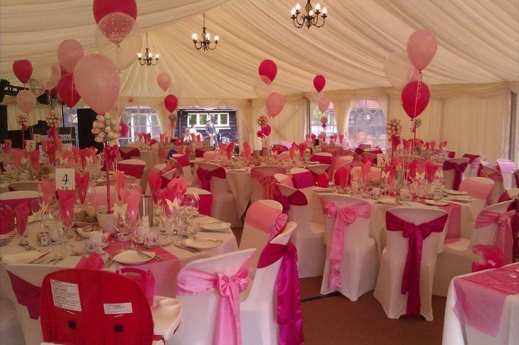 A very pink marquee wedding.