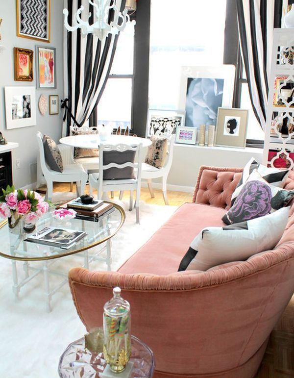 Eclectic Style Interior Design | Chic living room featuring a mix of styles and bold color combinations ...