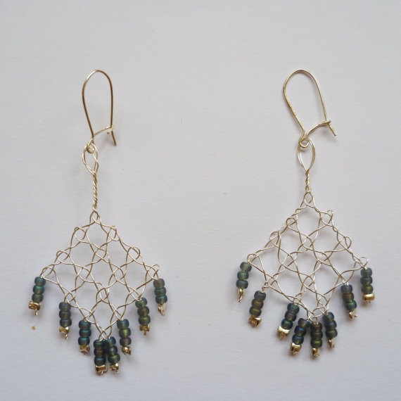 lovely bobbin lace earrings!