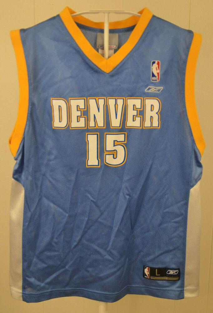 best website 4814a c62b8 Reebok Denver Nuggets Jersey #15 Carmelo Anthony NBA Kids ...