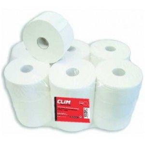 Pack 18 rollos papel higiénico industrial 2 capas gofrado con precorte. Más información y venta online de productos de limpieza en http://www.climprofesional.com/papel-higienico/77-papel-higienico-industrial-2-capas-gofrado-con-precorte-8421949000586.html