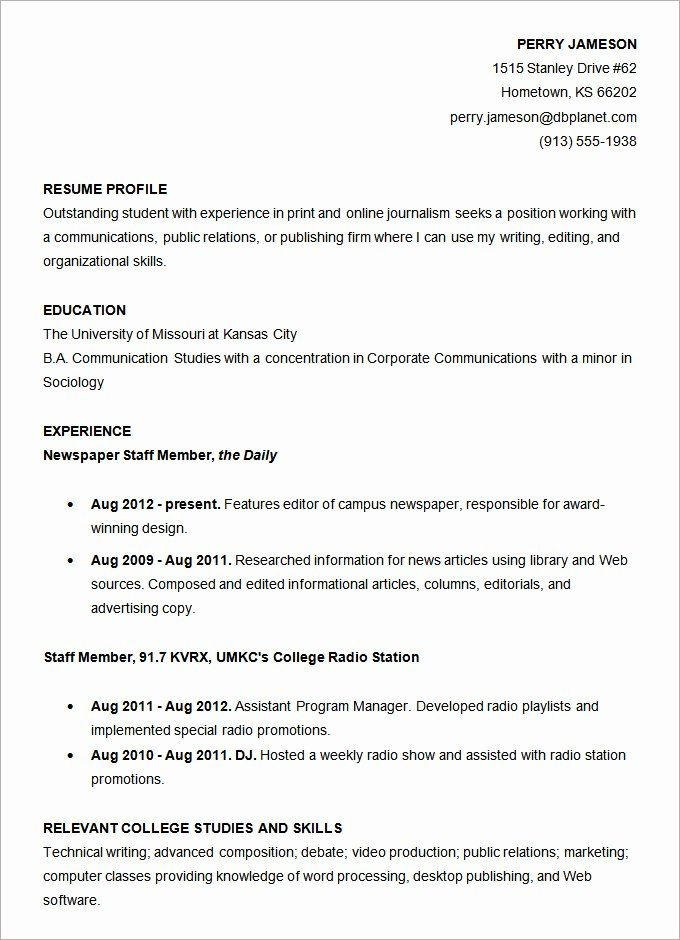 Resume Template College Student Luxury Resume Templates 127 Free Samples Examples Format Student Resume Template Job Resume Samples Sample Resume Templates