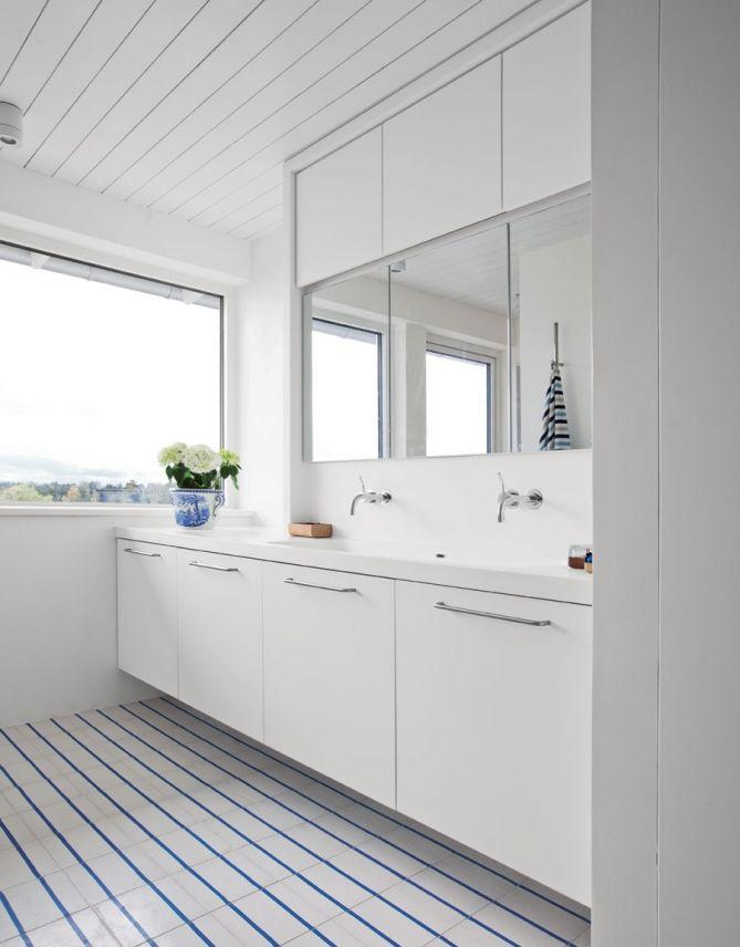 Badrum entreplan Lindö ren vit | Innovation | Produkter | Kvänum