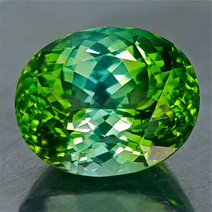 01891- 10.34ct green/blue Tourmaline - Afghanistan 14.27 x 11.73 x 8.39 mm clean, precision Portuguese cut $2245 for the piece shipped