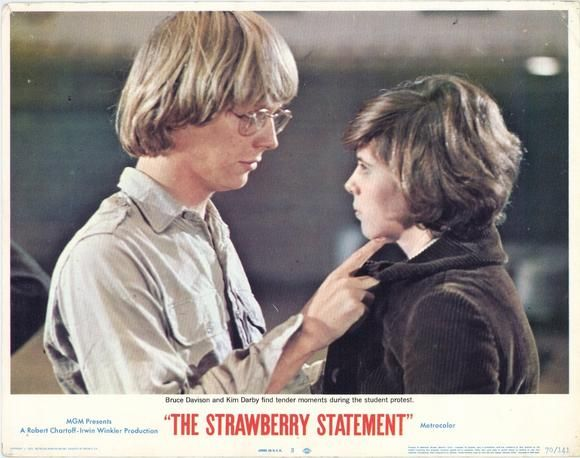 the strawberry statement The strawberry statement (sh izjava o jagodama) je američki igrani film snimljen 1970 godine u režiji stuarta hagmana predstavlja adaptaciju istoimene knjige.