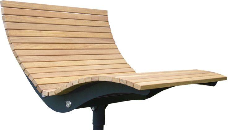 AUSSENOBJEKTE :: Relaxliege Garten Parkliege Metall Holz