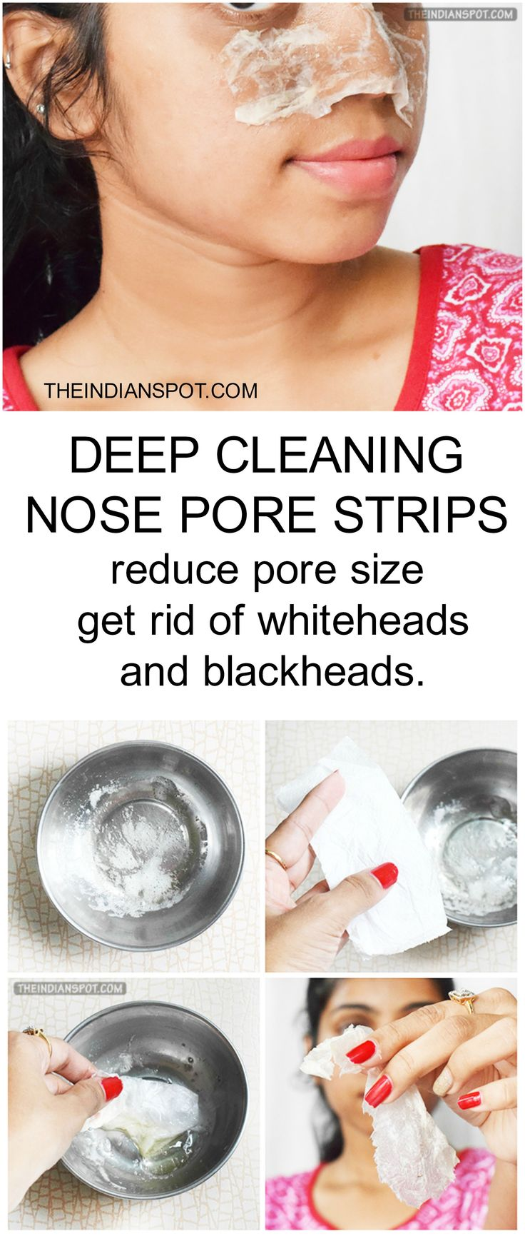 Grey rid of white heads and black heads & reduce pore size