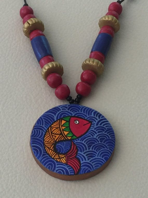 Hey, I found this really awesome Etsy listing at https://www.etsy.com/listing/386629252/terracotta-necklace-indian-tribal-design