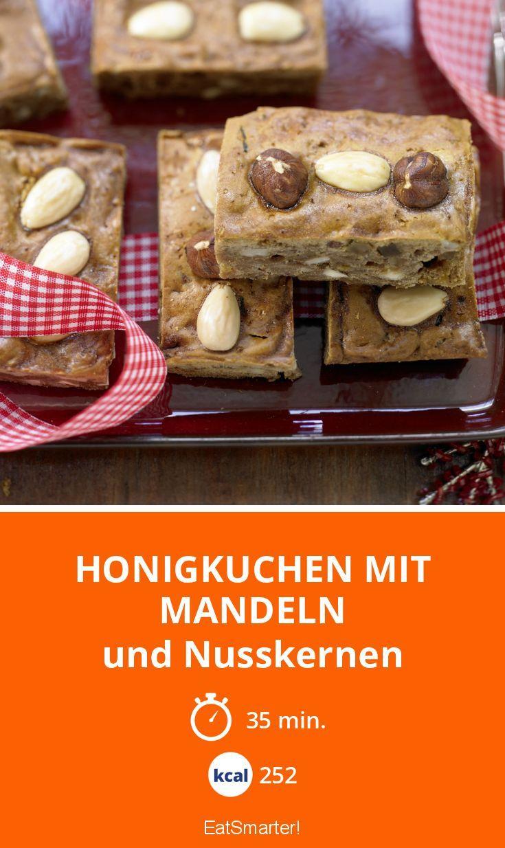 Honigkuchen mit Mandeln - und Nusskernen - smarter - Kalorien: 252 kcal - Zeit: 35 Min. | eatsmarter.de