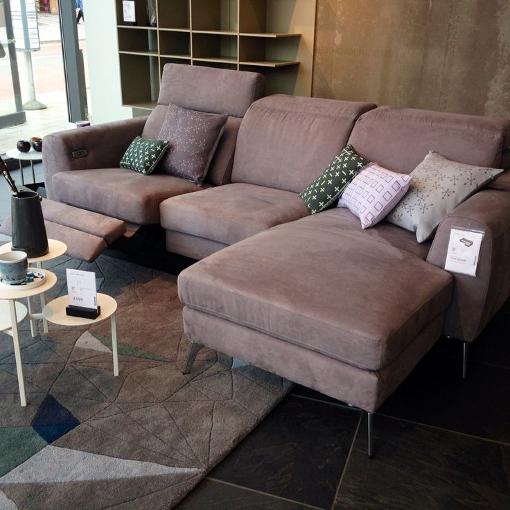 Our new Madison sofa has arrived!!!!  A sofa with electric seat, head and foot rest motion (rechargeable lithium battery included), and is available in fabrics and leathers!!! Come by to check it out. #boconcept #recliningsofa