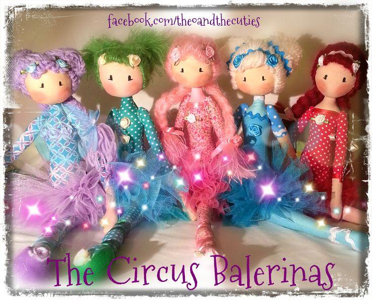 Theo and the Cuties - Circus Balerinas - Bubblegum, Kiwi, Fruity, Popcorn, Strawberry facebook.com/theoandthecuties