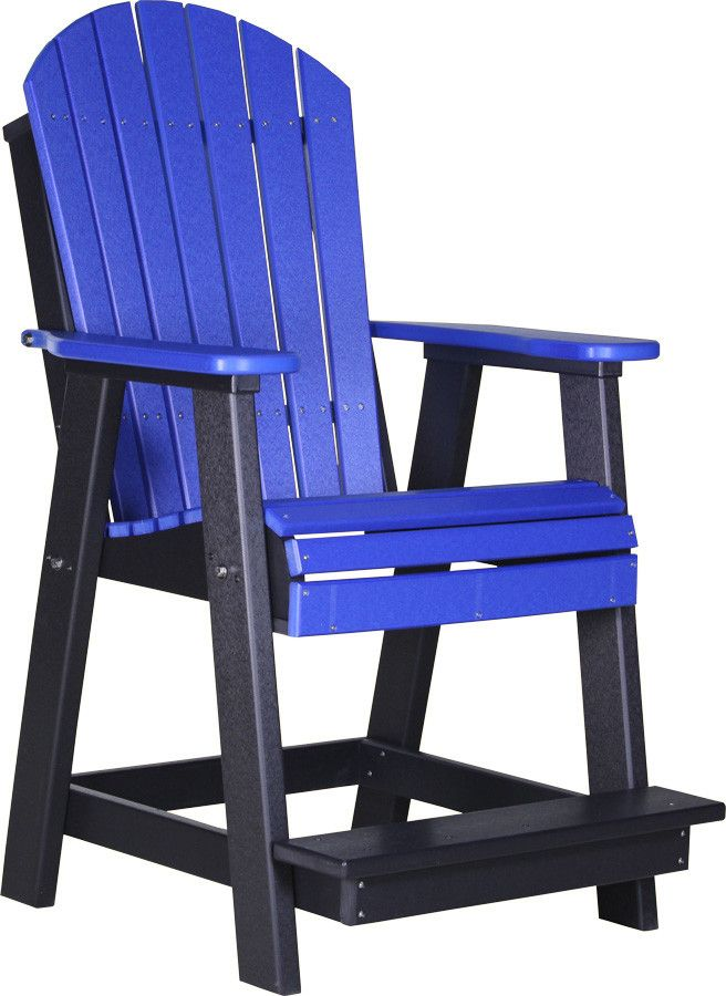 LuxCraft Recycled Plastic Tall Adirondack Balcony Chair - Outdoorsrockingchair.com