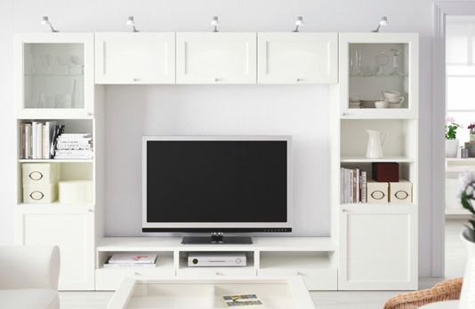 This is what your wall will look like, without the top middle section, as that is needed for TV.  Do you like the Glass Doors for top unit?  Do you like the lighting on top?
