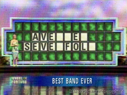 """""""I'd like to solve the puzzle please...?""""   """"AVENGED. SEVENFOLD."""""""