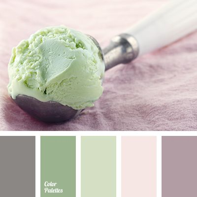 "The texture of pistachio ice cream on a background of lilac powder and blurred gray color of metal. The harmonious combination in a trendy style of ""Proven."