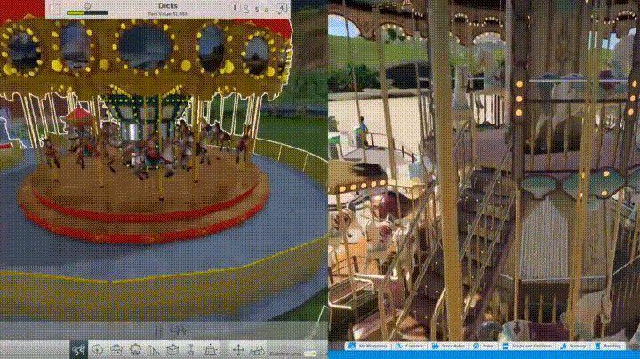 Rollercoaster Tycoon World's Carousel vs Planet Coaster's http://ift.tt/2g3bwsC