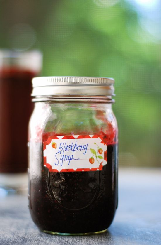 BEST (and easy) Blackberry Syrup: oh sweet jaysus, this is SO (easy) & SO GOOD! Even my 3yr old was licking the bowl! I think this could easily be canned. And the POSSIBILITIES! Chocolate, salad dressings, blackberry shortcakes, PANCAKES ... on & on ... this was a HIT!  *Note: you will def wanna strain the seeds tho. There's more than you think! This recipe made 12oz.