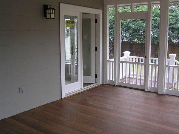 102 best images about porch ideas on pinterest screened for Breezeway flooring ideas
