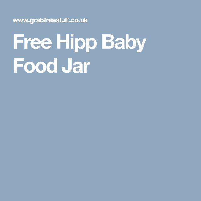 Free Hipp Baby Food Jar