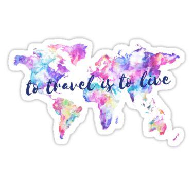 Viajar es vivir pegatina by annmariestowe tumblr stickerslaptop