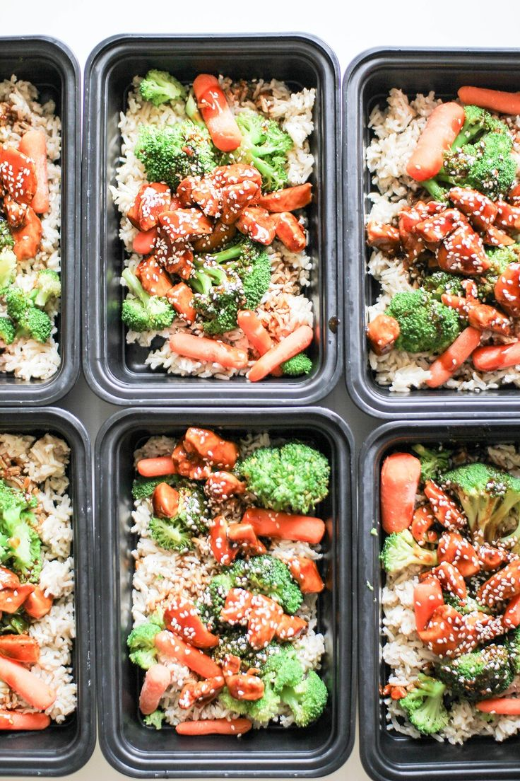 Asian style chicken, veg, and rice. Easy weeknight dinner or great meal prep option for the week. Vegan version is linked in the post. From Recipe Righter