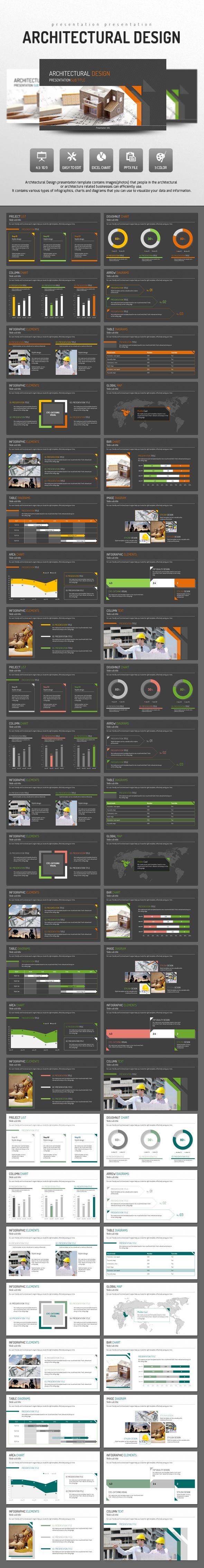 Architectural PowerPoint Presentation Template #design #slides Download: http://graphicriver.net/item/architectural-design/14422738?ref=ksioks