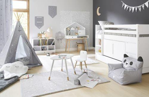 Tipi enfant gris imprimé étoiles blanche avec tapis en 2019 ...