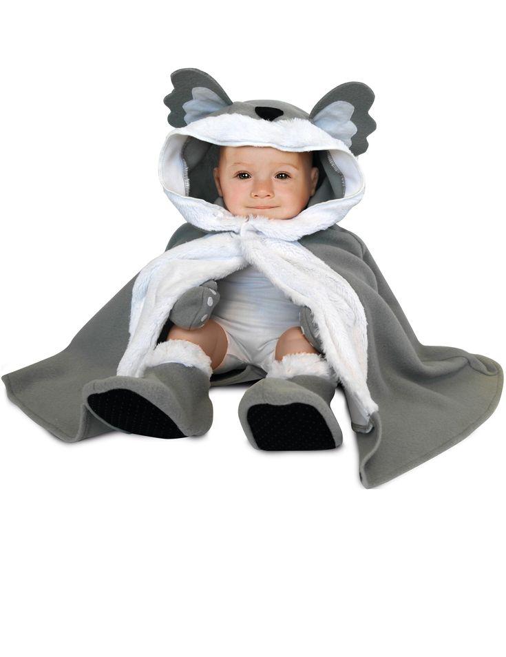 Déguisement bébé Koala : Cedéguisement de koala pour bébécomprend unecapeaveccapuche, une paire demoufleset une paire dechaussons(t-shirt blanc non...