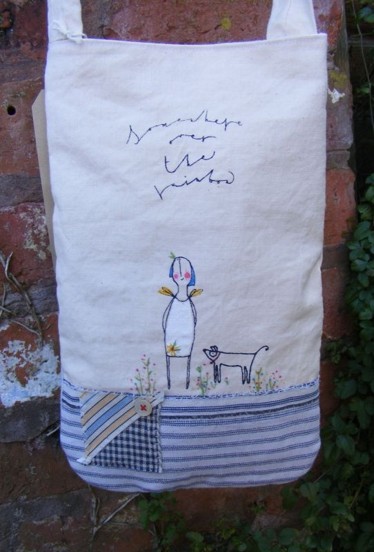 £37.50 A beautiful bag made from vintage fabrics by the very talented Viv Silwka