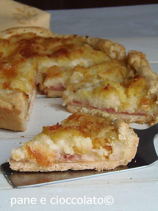 Crostata patate e prosciutto con PASTA MATTA senza uova