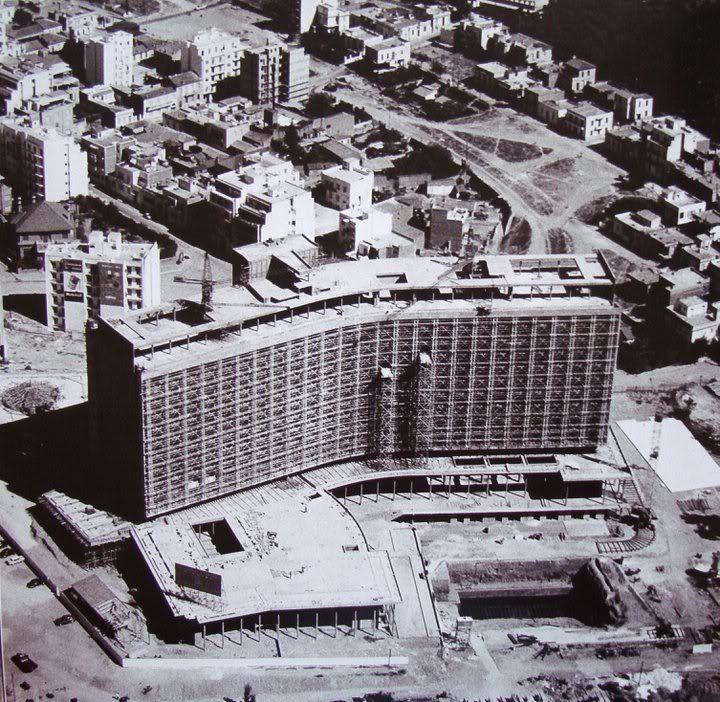 "The ""Athens Hilton"" hotel under construction (1958-1963)"