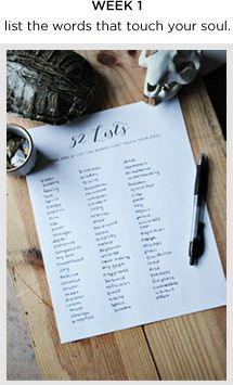 Here's a fun idea that's Journaling and Get Organized related: 52 LISTS! There's a new fun list every Tuesday.