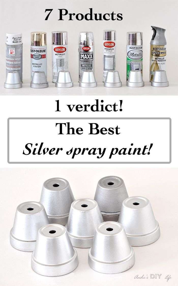 Best silver spray paint review. She tested 7 silver spray paints to find the best comparison