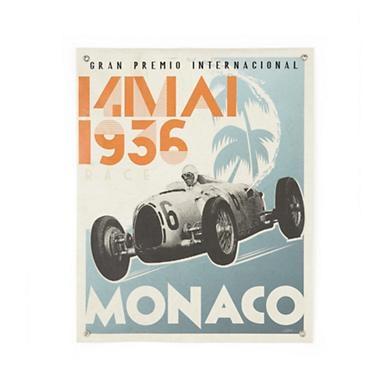 Vintage Racecar Monaco Banner