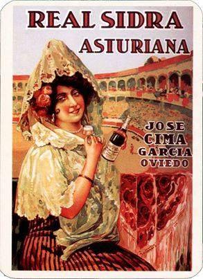Antiguo anuncio de la real sidra asturiana CIMA, de Colloto (Oviedo), que comparte con nosotros Carlos Diaz Marcos