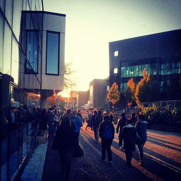 A November afternoon on campus at Swansea University in Wales (pic by tomtom_g)