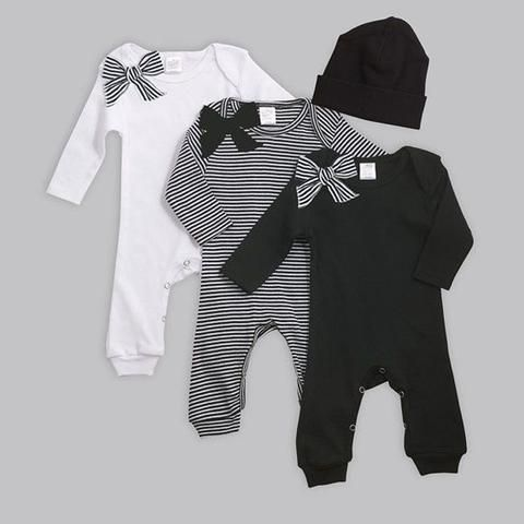 e00a824e8 New born Baby clothes Cotton Sliders Long sleeve Jumpsuits Winter ...